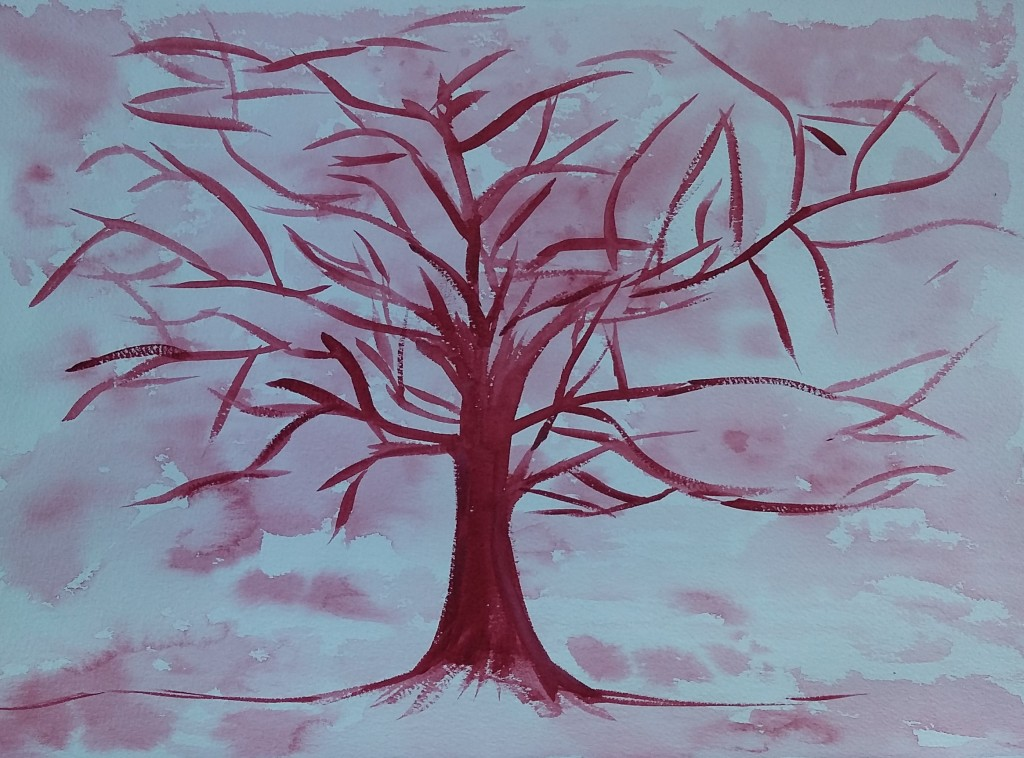 aquarelle_arbre_rouge