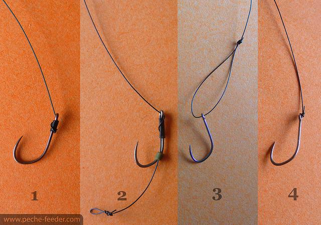 montage noeud pour les hameçons à oeilet